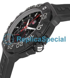 Tag Heuer Carrera CAH1012FT6026 Swiss Automatisk Black Dial Stainless Steel Bezel Watch