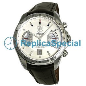 Tag Heuer Carrera CAV511B.FC6225 Swiss Automatisk Mens Leather Bralecet Round Watch