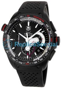 Tag Heuer Carrera CAV5185.FT6020 Swiss Automatisk Black Dial Rubber Bralecet Watch